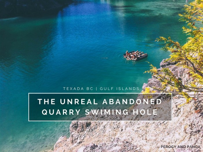 The Unreal Abandoned Quarry Swimming Hole on Texada Island, BC Canada