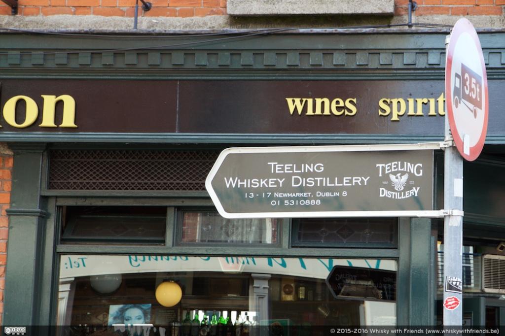 Gelukkig vonden we Teeling Whiskey Distillery wegwijzers!