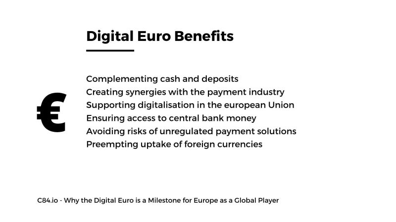 C84.io - Why the Digital Euro is a Milestone for Europe as a Global Player