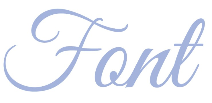 image of the word Font in a purple colour