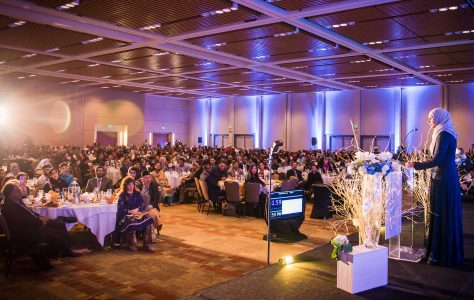 Image result for speaking at a banquet