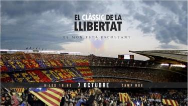 """Imatge de l'event de Facebook: """"El clàssic de la llibertat. El món està escoltant""""."""