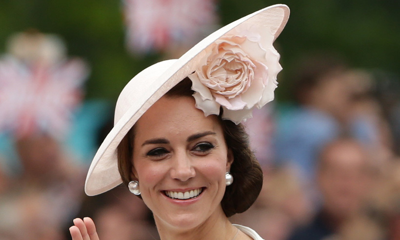 Kate Is In Bloom Wearing Pretty Philip Treacy Hat At
