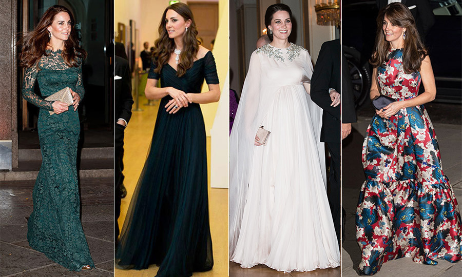 Kate Middleton's Best Evening Gowns