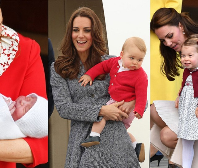 The Most Adorable Photos Of Kate Middleton With George Charlotte And Louis Hello Canada