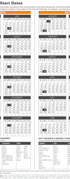 2016 -2017 ILSC開課日