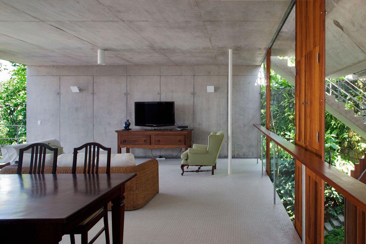 Beautiful Concrete House In Ubatuba By SPBR Arquitetos