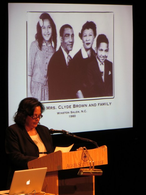 Rosemarie Pena, President of Black German Heritage & Research Association, during her keynote address.