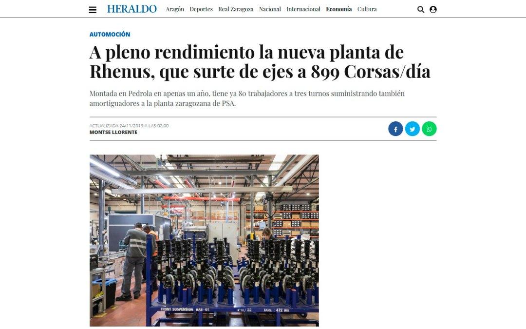 A pleno rendimiento la nueva planta de Rhenus, que surte de ejes a 899 Corsas/día