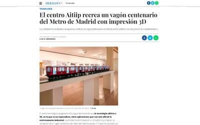 El centro Aitiip recrea un vagón centenario del Metro de Madrid con impresión 3D