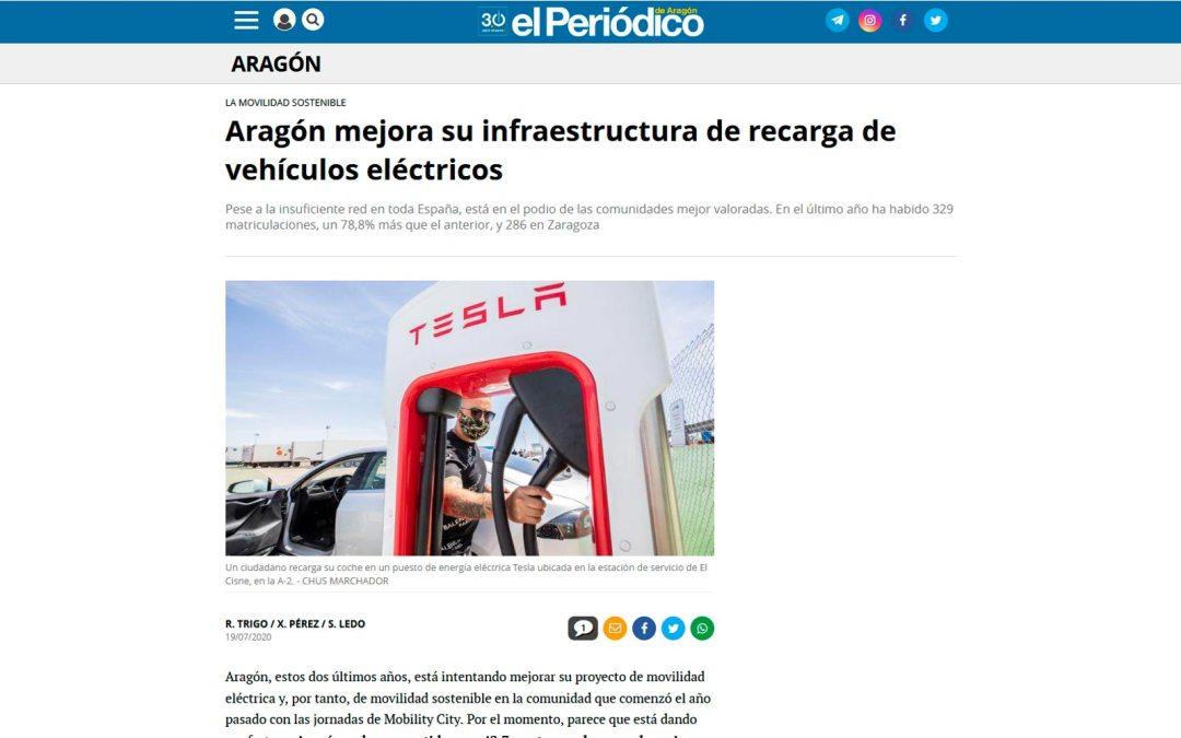 Aragón mejora su infraestructura de recarga de vehículos eléctricos