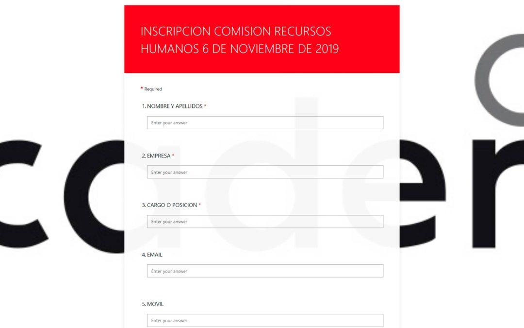 Segunda Comisión de Recursos Humanos y Formación en CAAR