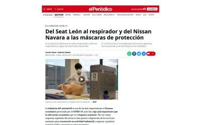 Del Seat León al respirador y del Nissan Navara a las máscaras de protección