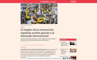 El empleo de la automoción española acelera gracias a la demanda internacional