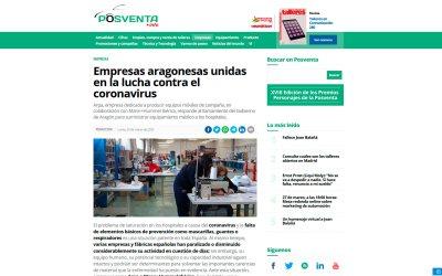 Empresas aragonesas unidas en la lucha contra el coronavirus