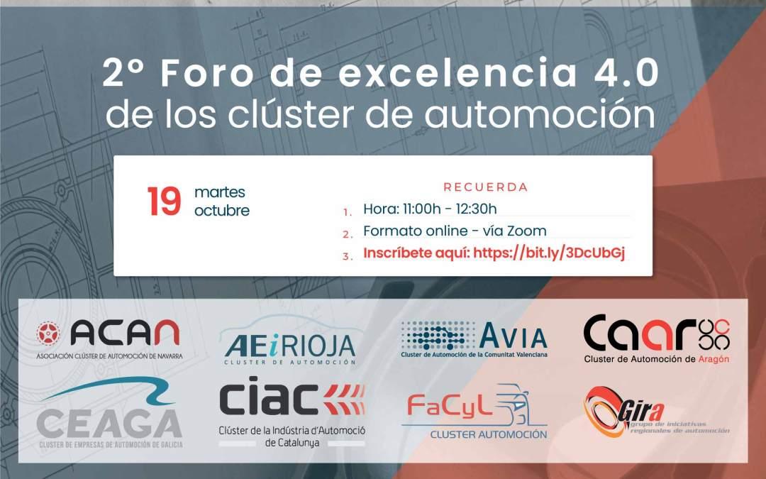 Jornada 'Foro de excelencia 4.0 de los clústeres de automoción'