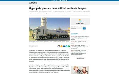 El gas pide paso en la movilidad verde de Aragón