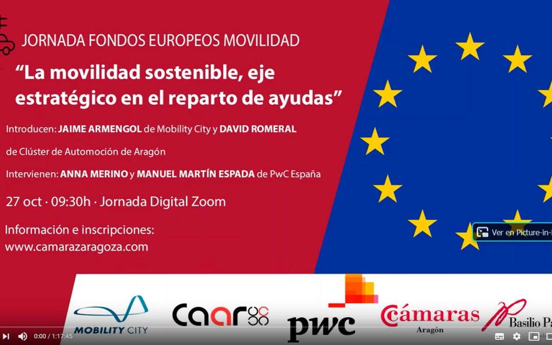 El CAAR participa en la jornada sobre fondos europeos destinados a la movilidad sostenible