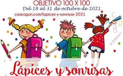 Campaña 'Lápices y sonrisas' 2021: Objetivo 100×100