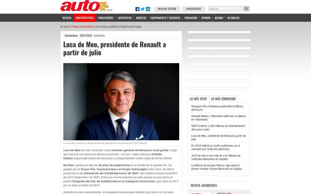 Luca de Meo, presidente de Renault a partir de julio