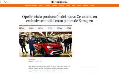 Opel inicia la producción del nuevo Crossland en exclusiva mundial en su planta de Zaragoza