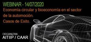 """Webinar para socios """"Economía circular y bioeconomía en el sector automoción. Casos de éxito"""""""