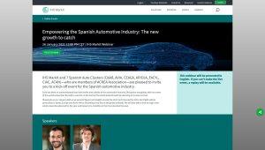 """Webinar con 7 clústeres españoles de automoción promovido por IHS Markit """"Empowering the Spanish Automotive Industry"""""""