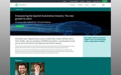 Webinar sobre pronósticos a corto plazo para la producción de vehículos ligeros en España, Europa y norte de África
