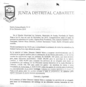 sesion censo cabarete diciembre 2010