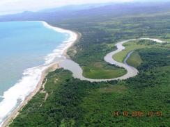 Vista aerial de la Boca
