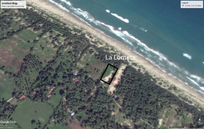 Vista de Google de 2016 donde se presenta el supuestamente terreno donde los camioneros quieren sacar arena