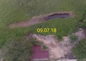 canal nuevo hecho en total ilegalidad por el famoso constructor