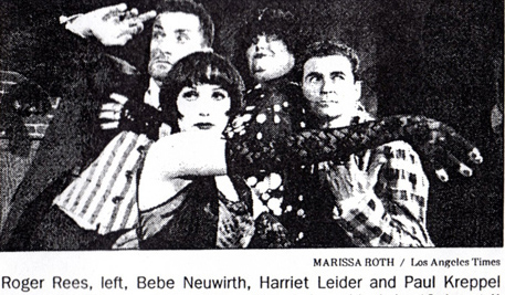 The original production of Cabaret Verboten