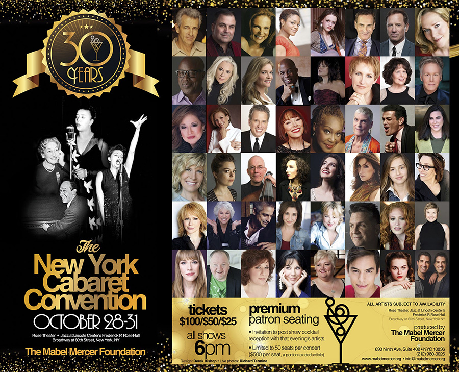 The 30th NY Cabaret Convention Announces Its Roster of Talent