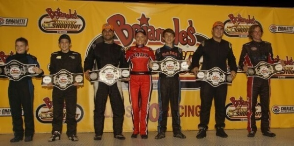 Jordan Black, Tom Pistone, Sheldon Crouse, Chase Purdy, Daniel Wilk and Ashton Higgins took home championships  at the Bojangles' Summer Shootout Series - Charlotte Motor Speedway photo by John Davison