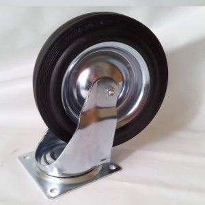Roda cautxú massissa de 28x7cm