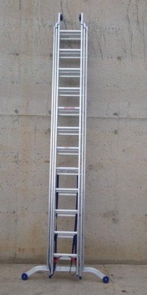 Escala d'alumini 3 trams 866cm d'ocasió a cabauoportunitats.com Balaguer - Lleida - Catalunya