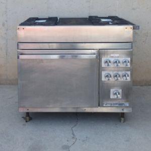 Cocina hostelería ocasión 4 fuegos + horno en cabauoportunitats.com
