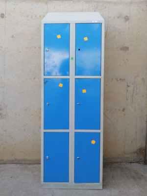 Mòdul 6 taquilles metàl·liques 60x50x210cm de segona mà a cabauoportunitats.com Balaguer - Lleida - Catalunya