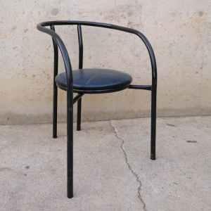 Cadira de tub negre de segona mà a cabauoportunitats.com Balaguer - Lleida - Catalunya