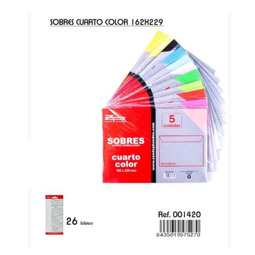 130 sobres de colores de 162x229mm nuevos en venta en cabauoportunitats.com