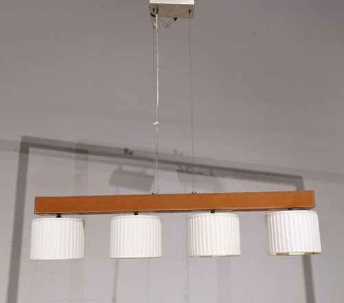 Lámpara cuero con 4 globos