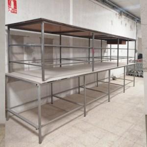 Taula de taller de 490cm de llargada de segona mà en venda a cabauoportunitats.com Balaguer - Lleida - Catalunya