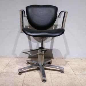 Cadira d'oficina de cuir i tub d'acer de gran qualitat i resistència en venda a cabauoportunitats.com Balaguer - Lleida - Catalunya