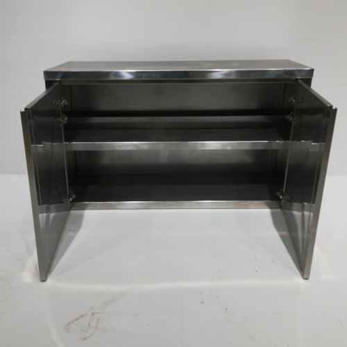 Armari d'acer inoxidable de 120x41cm de segona mà en venda a cabauoportunitats.com Balaguer - Lleida - Catalunya