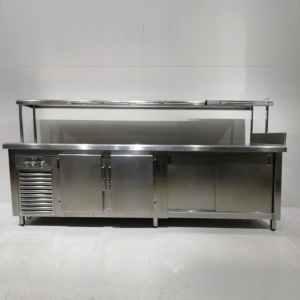 Nevera sotamostrador amb armari calent i prestatgeria passa-plats de segona mà en venda a cabauoportunitats.com Balgauer - Lleida - Catalunya