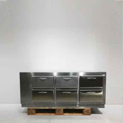 Calaixera de segona mà feta d'acer inoxidable en venda a cabauoportunitats.com Balaguer - Lleida - Catalunya