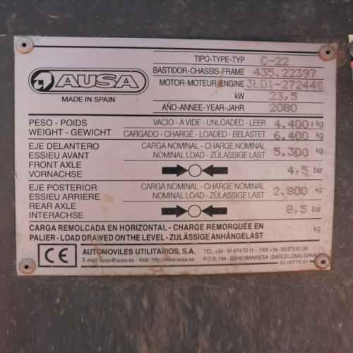 Toro AUSA CE-22 matriculat de segona mà en venda a cabauoportuntiats.com Balaguer- Lleida - Catalunya