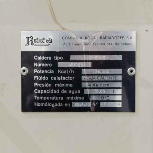 Caldera ROCA T 50-5 amb dipòsit homologat de segona mà en venda a cabauoportunitats.com Balaguer - Lleida - Catalunya