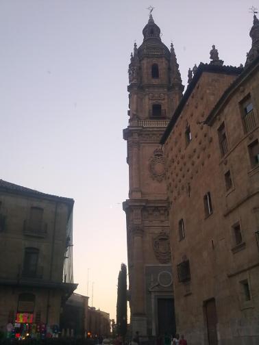 Chegando em Salamanca com este entardecer...